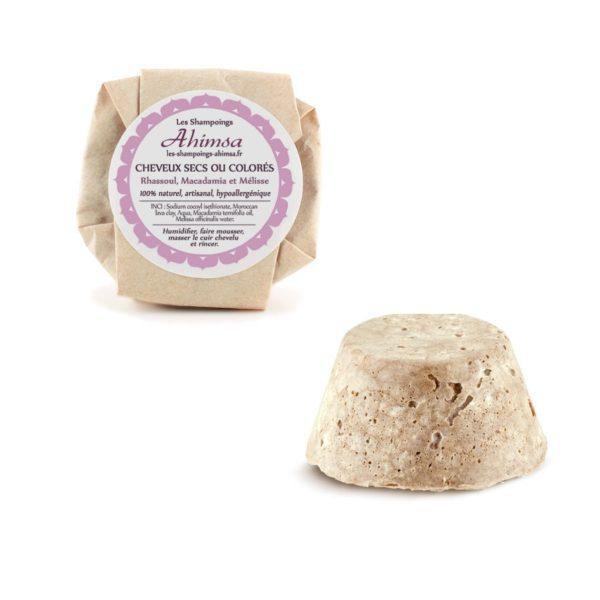 Shampoing solide Ahimsa - Cheveux secs ou colorés - Avec emballage